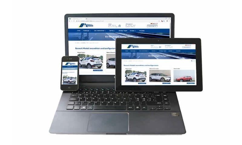 Unsere Website mit neuem Design